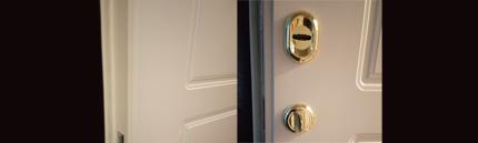 Первичная установка дверного замка