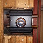 Установка замка Барьер-каре на замену накладному Керберос на металлической двери с деревянной отделкой вагонкой