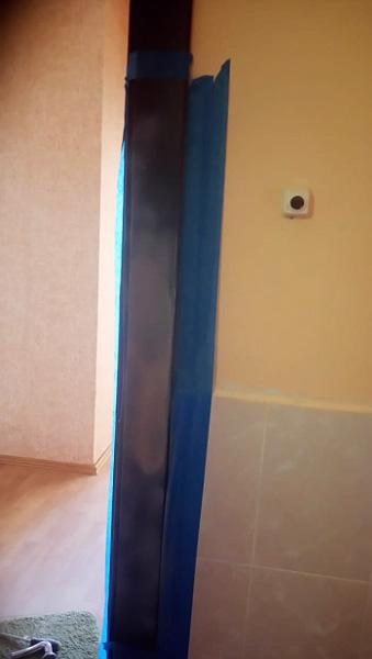 Ремонт металлической двери с восстановлением торца дверного полотна