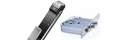 Врезной электронный замок Samsung SHS-P718 XBK/XBU с установкой